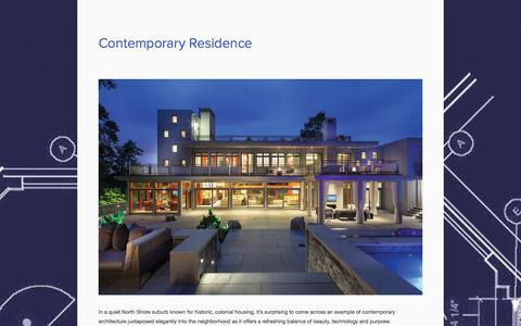 Screenshot of Case Studies Page cuttingedgehome.com - Contemporary Residence — Cutting Edge Systems - captured Oct. 3, 2014