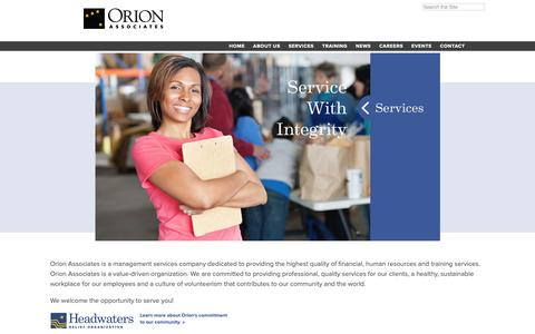 Screenshot of Home Page orionassoc.net - Orion Associates - captured Oct. 14, 2018