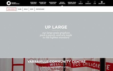 Screenshot of Case Studies Page creativevisuals.com.au - OFFICE GRAPHICS - captured Dec. 13, 2015