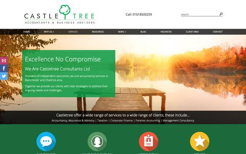 Screenshot of Services Page castletree.co.uk - Services | Castletree Consultants Ltd | Accountants - captured Sept. 27, 2018