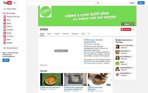 Screenshot of YouTube Page youtube.com - ZTRDG  - YouTube - captured Nov. 5, 2014