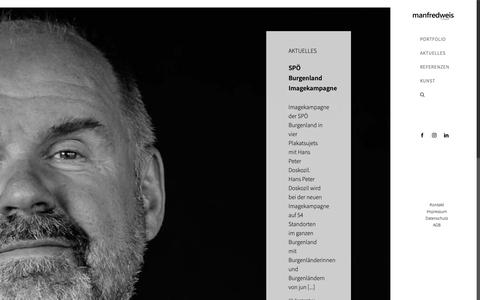 Screenshot of Home Page manfredweis.com - Manfred Weis | Fotograf - captured Oct. 19, 2018