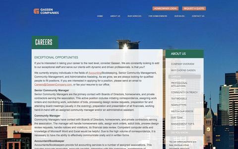 Screenshot of Jobs Page gassen.com - Careers at Gassen Companies - captured Oct. 2, 2014
