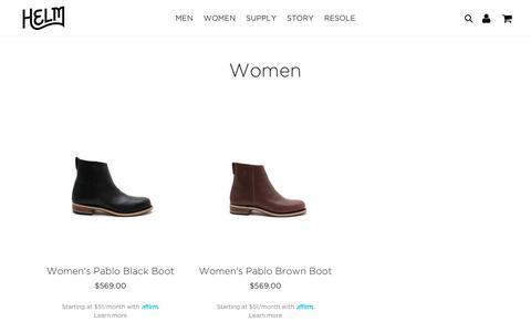 women boots                      – HELM Boots