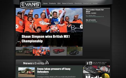 Screenshot of Press Page evanscoolants.co.uk - Latest News - captured Oct. 3, 2014