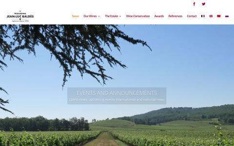 Screenshot of Press Page jlbaldes.com - International and national news events - JLBaldes Wines - captured Jan. 21, 2017