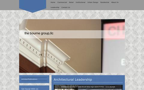 Screenshot of Team Page thebournegroup.com - the bourne group,llc - Leadership - captured Aug. 14, 2016