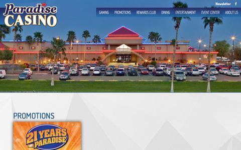 Screenshot of Home Page paradise-casinos.com - PARADISE CASINO - captured July 14, 2017