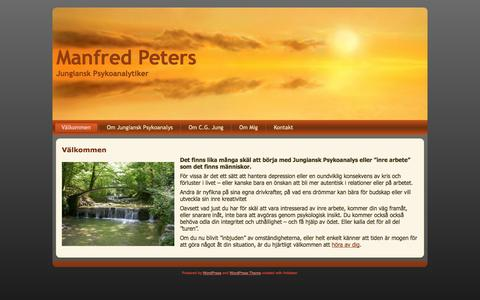 Screenshot of Home Page manfredpeters.se - Manfred Peters: Välkommen - captured Oct. 3, 2014