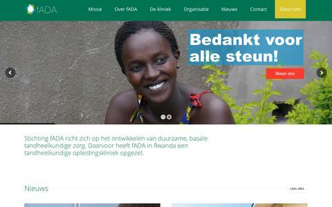 Screenshot of Home Page fada.nl - Home - fADA - captured Oct. 9, 2018
