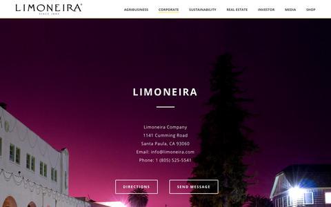 Screenshot of Maps & Directions Page limoneira.com - Corporate – Limoneira - captured Sept. 28, 2018