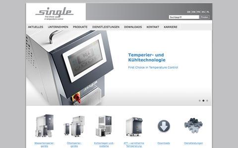 Screenshot of Home Page single-temp.de - Single Temp (Europa)   Single-Temperiertechnik - captured Feb. 16, 2018