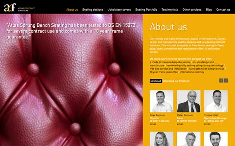 Screenshot of About Page atlascontractfurniture.com - About us - Atlas Contract Furniture - captured Oct. 5, 2014