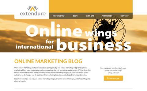Screenshot of Blog extendure.com - Online marketing blog over de laatste online marketing ontwikkelingen - captured Dec. 13, 2015