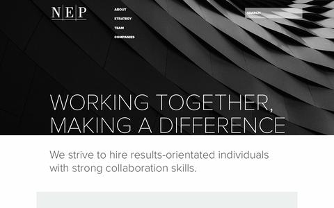 Screenshot of Jobs Page nep.com - Careers - Norwest Equity Partners - captured Oct. 23, 2017