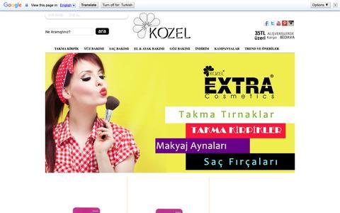 Screenshot of Home Page kozel.com.tr - Kozel Kozmetik - Kaliteli uygun satışlar - captured Nov. 6, 2018