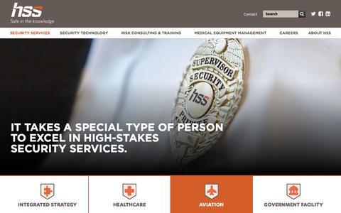 Screenshot of Support Page hss-us.com - Aviation Security | HSS Inc. - captured Sept. 26, 2018