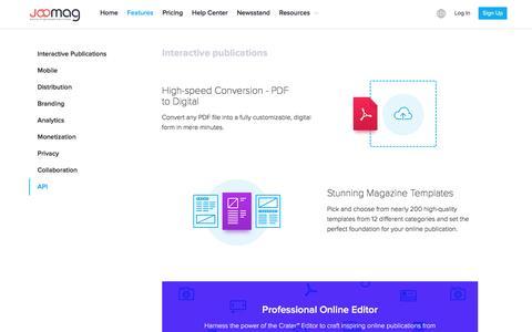 Create Digital Publications Using Joomag's Unique Features