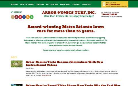 Screenshot of Press Page arbor-nomics.com - Press Releases | Arbor-Nomics - captured Jan. 23, 2018
