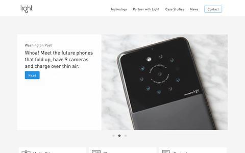 Screenshot of Press Page light.co - Light Press |  Light - captured Aug. 20, 2019
