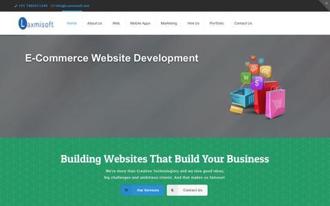 Screenshot of Home Page laxmisoft.net - Web Design Company Surat India  Website Development Surat  Mobile Apps Development India  Software Development Surat - captured Jan. 18, 2016
