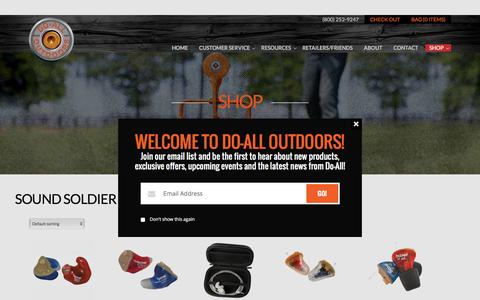 Product Categories  Sound Soldier | Do All Outdoors