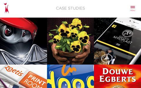 Screenshot of Case Studies Page crimsoncat.co.uk - Case Studies - Crimson Cat - captured Sept. 25, 2018