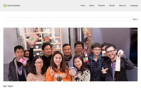 Screenshot of Team Page conwood.com.cn - Our Team | Conwood International - captured Nov. 12, 2016