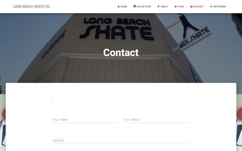 Screenshot of Contact Page lbskate.com - Contact – LONG BEACH SKATE CO. - captured Sept. 8, 2017