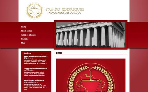 Screenshot of Home Page camporodrigues.com.br - CAMPO RODRIGUES - Advogados Associados - captured Oct. 1, 2014