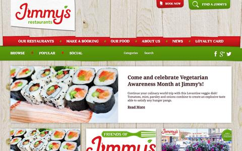 Screenshot of Press Page jimmysworldgrill.co.uk - Jimmy's Restaurants News | Jimmy's World Kitchen and Grill - captured Oct. 6, 2014
