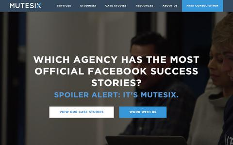 Screenshot of Home Page mutesix.com - MuteSix: Elite Facebook Advertising Agency - captured April 21, 2018
