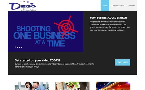 Screenshot of Home Page degostudios.com - DEGO Studios – Making videos for marketing and training. - captured Sept. 30, 2014