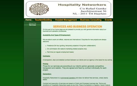 Screenshot of Services Page hospitalitynetworkers.com - Services - Failte @ Hospitality Networkers - captured Sept. 30, 2014
