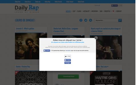 Screenshot of Home Page daily-rap.fr - Daily Rap - Lourd de ding ! - captured Aug. 31, 2015