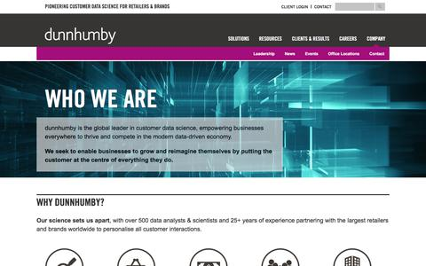 dunnhumby - Get to know us