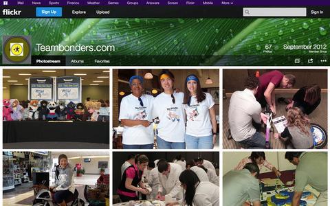 Screenshot of Flickr Page flickr.com - Flickr: Teambonders.com's Photostream - captured Oct. 26, 2014