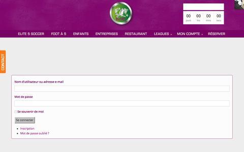 Screenshot of Login Page elite5soccer.com - Connexion à l'interface de gestion de mon compte Elite 5 soccer - captured July 17, 2018