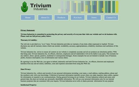 Screenshot of Privacy Page triviumindustries.com - Trivium Industries - captured Oct. 25, 2014