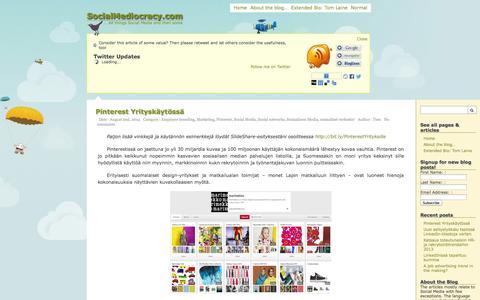 Screenshot of Home Page socialmediocracy.com - SocialMediocracy.com - all things Social Media and then some - captured Sept. 19, 2014