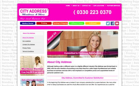 Screenshot of About Page cityaddress.co.uk - About City Address - captured Sept. 25, 2014