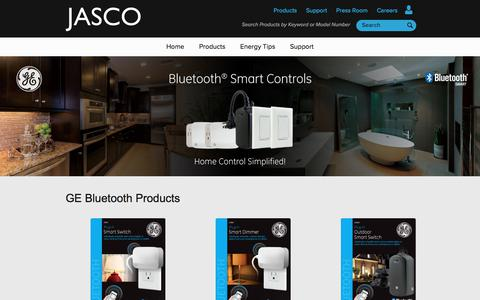 Screenshot of Products Page ezbluetooth.com - GE Bluetooth Products - EZ Bluetooth - captured July 9, 2018