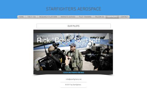 Screenshot of Team Page starfighters.net - starfighters-1 | OUR PILOTS - captured Nov. 4, 2017