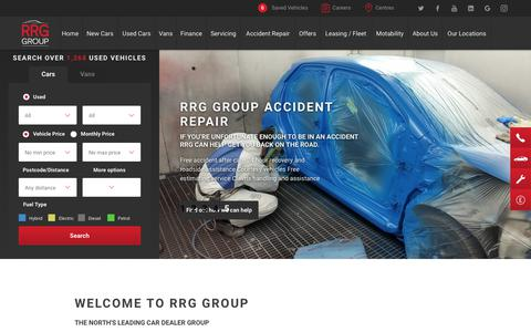 Screenshot of Home Page rrg-group.com - New and Used Car Dealer | Greater Manchester, Lancashire & West Yorkshire | RRG Group - captured Oct. 19, 2018