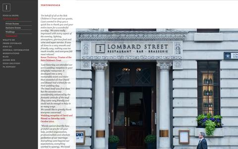 Screenshot of Testimonials Page 1lombardstreet.com - 1 Lombard Street - Testimonials - captured Oct. 9, 2014