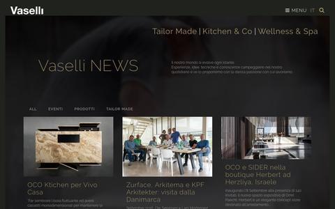Screenshot of Press Page vaselli.com - News - Vaselli - captured Nov. 29, 2016