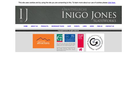 Screenshot of Products Page inigojones.co.uk captured Oct. 12, 2018