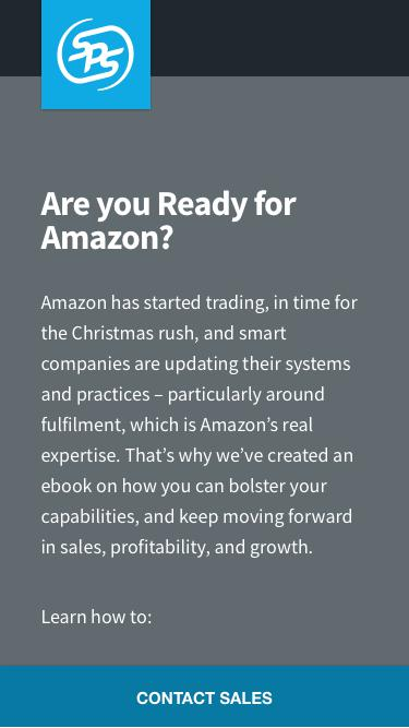 Screenshot of Landing Page  spscommerce.com - Amazon eBook | SPS Commerce