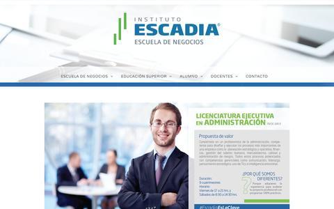 Licenciatura en Administración –  Escadia