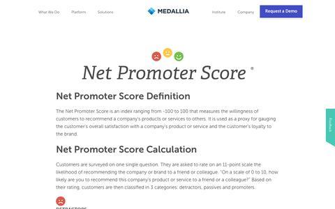 Net Promoter Score | Medallia